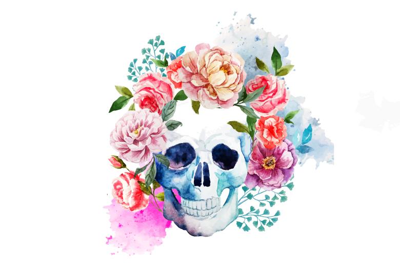 teschio-con-fiori