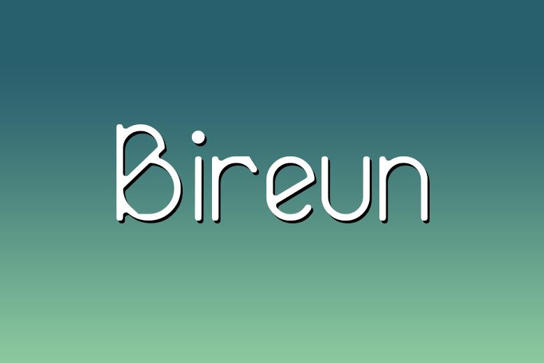 bireun font da scaricare gratuitamente