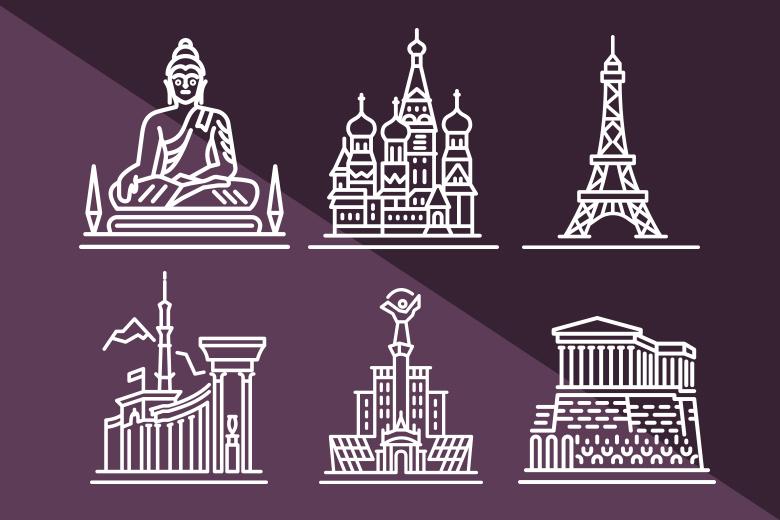 Forme città per photoshop, download gratuito
