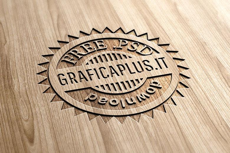 logo mockup legno