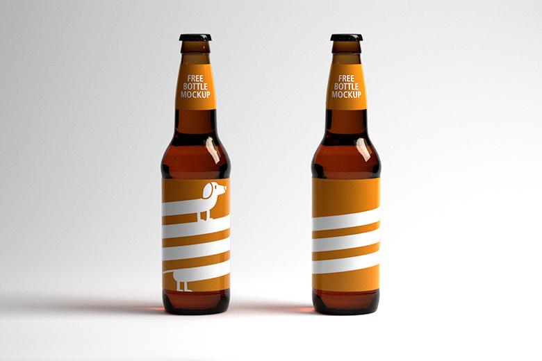 mockup bottiglia di birra