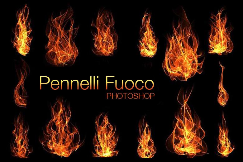 pennelli fuoco photoshop