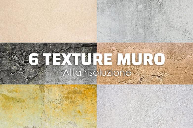6 texture muro di alta risoluzione